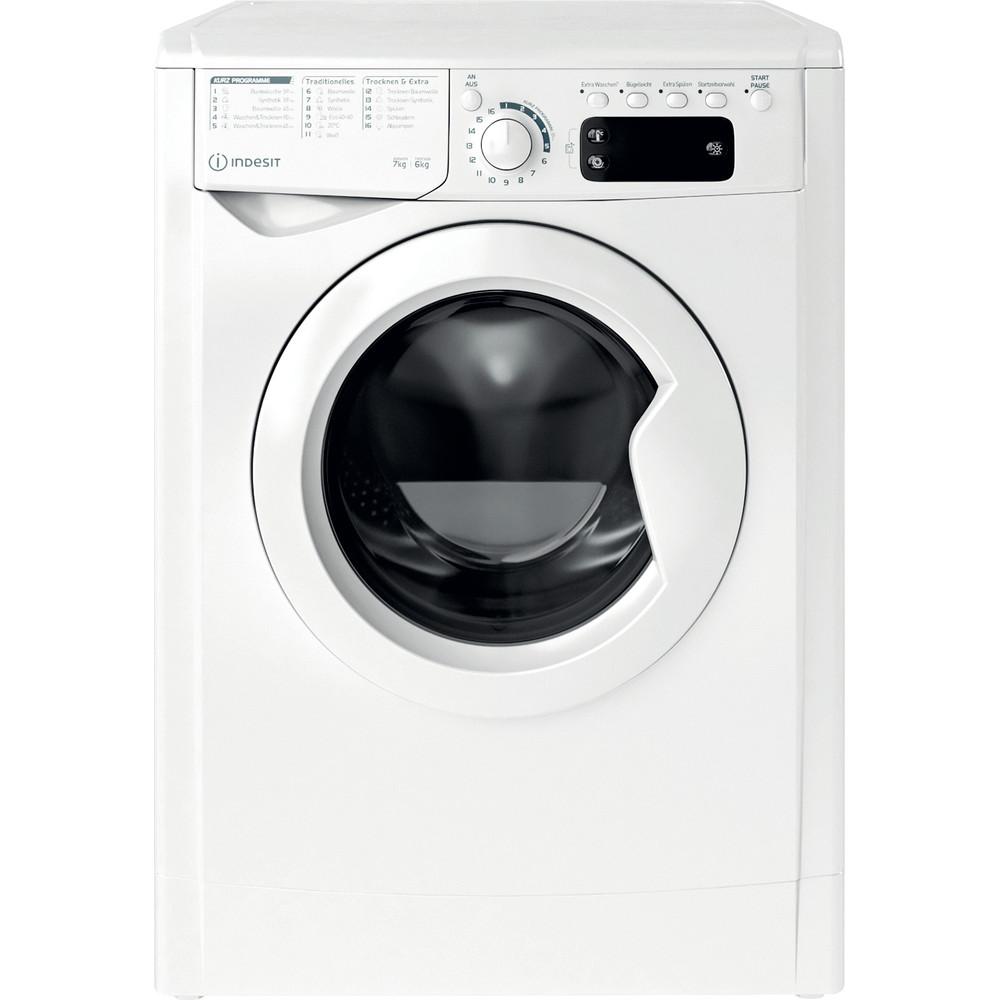 Indesit Waschtrockner Freistehend EWDE 761483 W DE N Weiß Frontlader Frontal