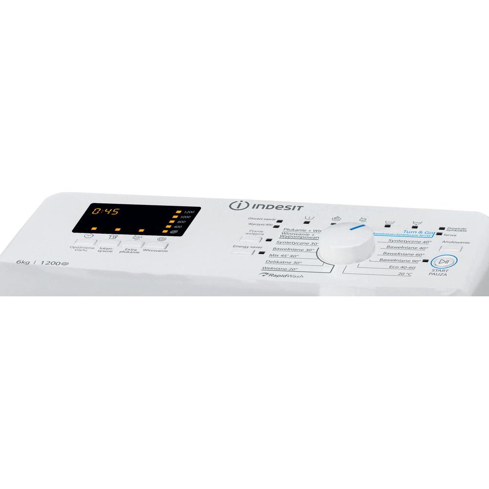 Indesit Pralka Wolnostojące BTW S6230P PL/N Biel Ładowana od góry D Control panel