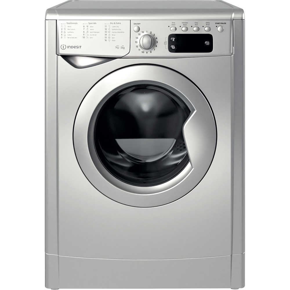 Indesit Washer dryer Free-standing IWDD 75145 S UK N Silver Front loader Frontal