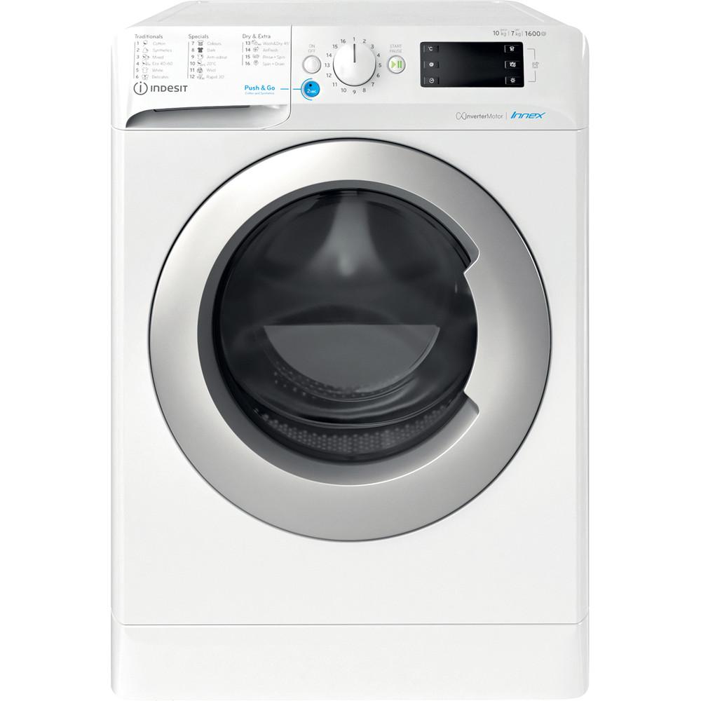 Indesit Πλυντήριο-στεγνωτήριο Ελεύθερο BDE 1071682X WS EE N Λευκό Front loader Frontal