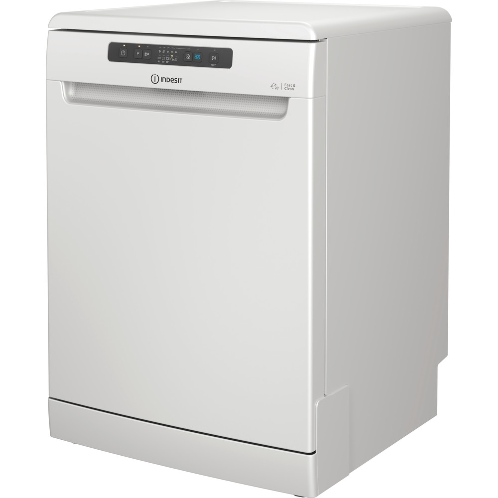 Indesit Dishwasher Free-standing DFC 2B+16 UK Free-standing F Perspective