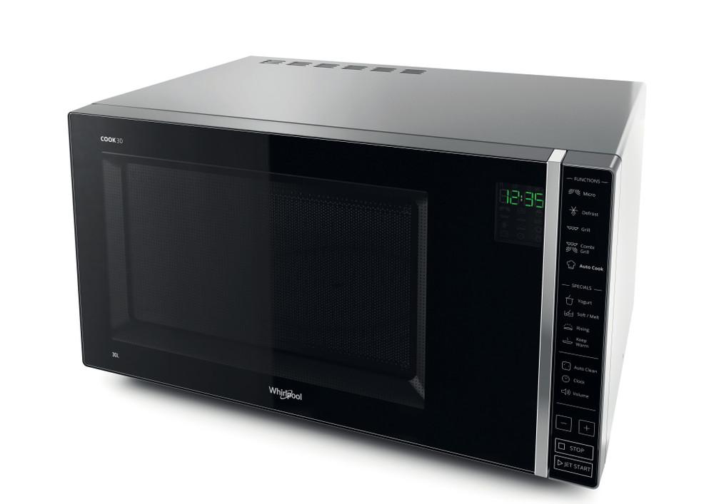 Whirlpool Microwave Samostojni MWP 303 SB Silver Elektronsko 30 Mikrovalovna pečica z grilom 900 Perspective