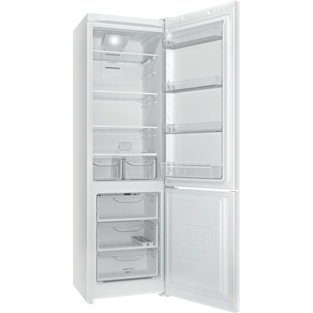 Indesit Холодильник с морозильной камерой Отдельностоящий DF 5200 W Белый 2 doors Perspective open