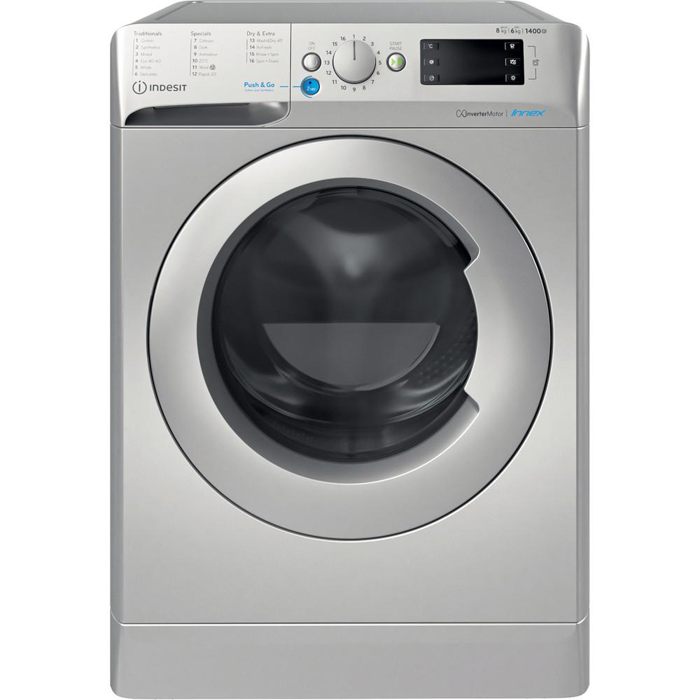 Indesit Washer dryer Free-standing BDE 861483X S UK N Silver Front loader Frontal