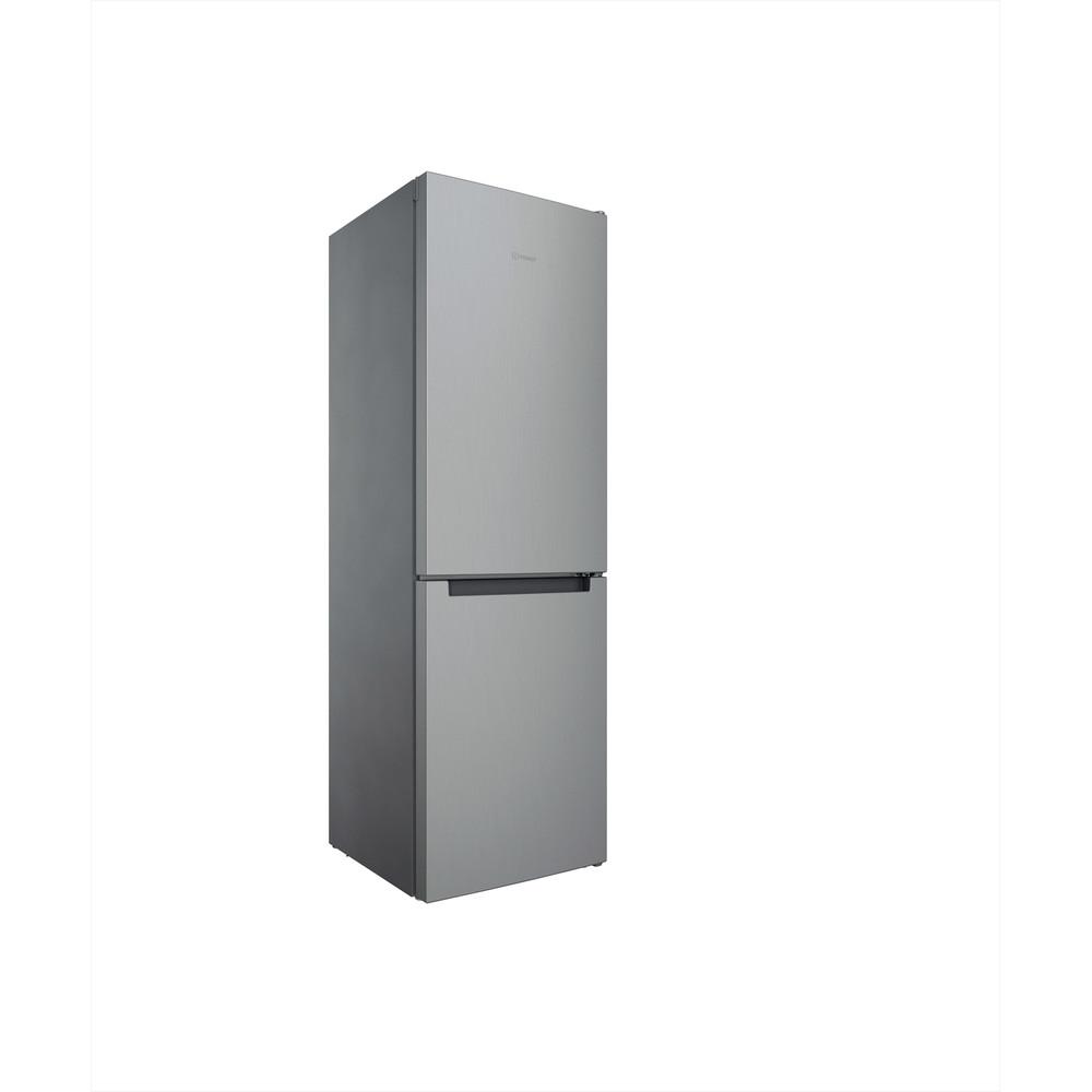 Indesit Køleskab/fryser kombination Fritstående INFC8 TI21X Rustfrit stål 2 doors Perspective