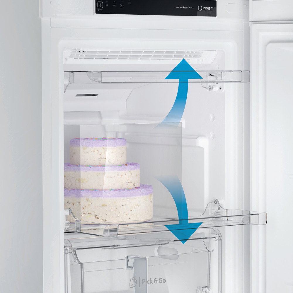 Indesit Морозильная камера Отдельностоящий DFZ 4150 Белый Drawer