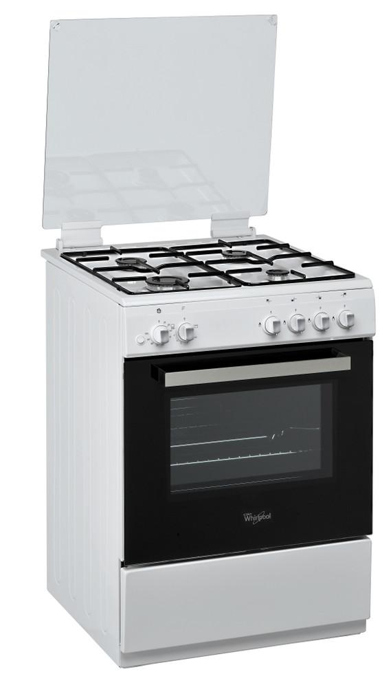 Whirlpool Cuisinière ACM 6611 G/WH Blanc Gaz Perspective