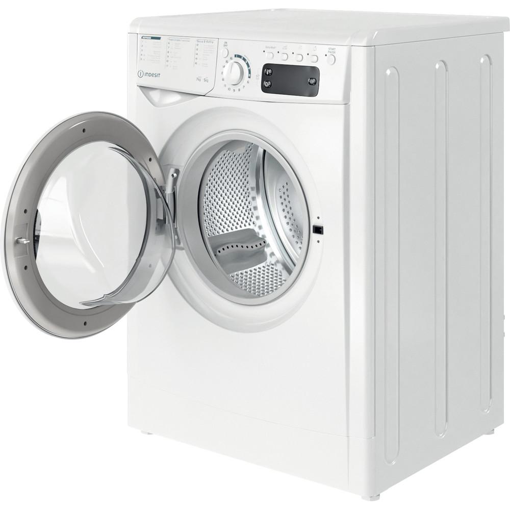 Indesit Lavadora secadora Libre instalación EWDE 751251 W SPT N Blanco Cargador frontal Perspective open