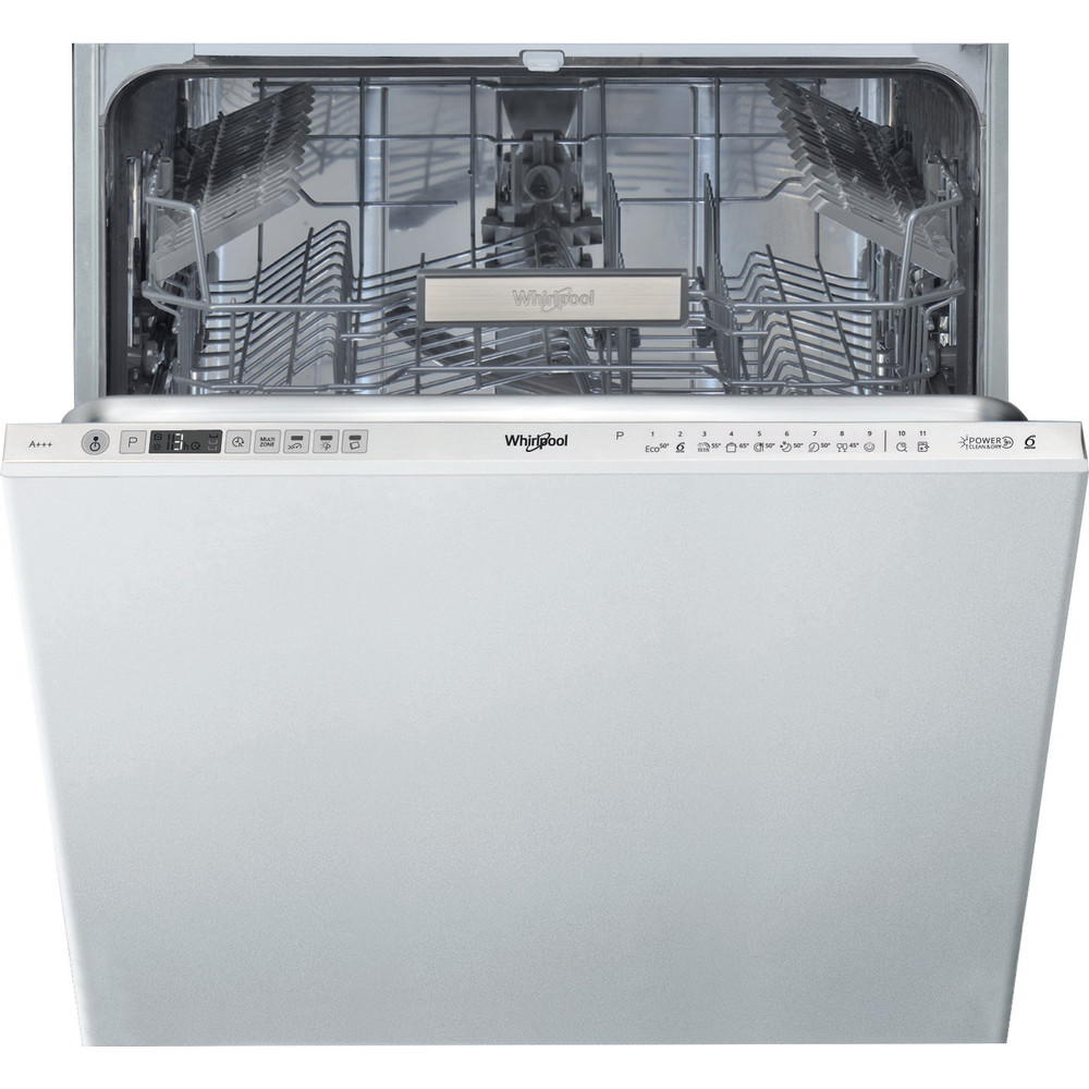 Whirlpool integrert oppvaskmaskin: farge stål, 60 cm - WIO 3O33 DE