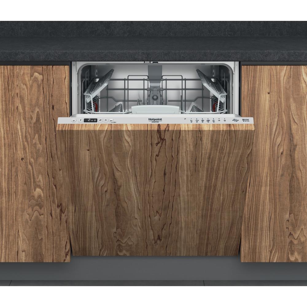 Hotpoint_Ariston Посудомоечная машина Встраиваемая HI 5030 W Full-integrated A Frontal