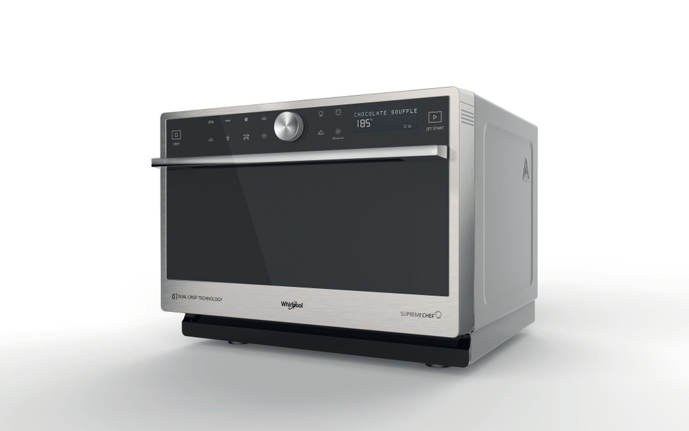 Whirlpool Four micro-ondes Pose-libre MWP 3391 SX Inox Electronique 33 Micro-ondes Combiné 1000 Perspective