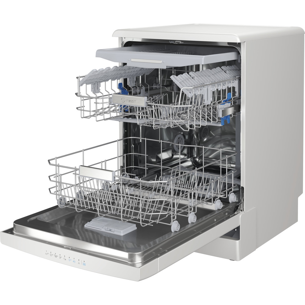 Indesit Dishwasher Free-standing DFO 3T133 F UK Free-standing D Perspective open