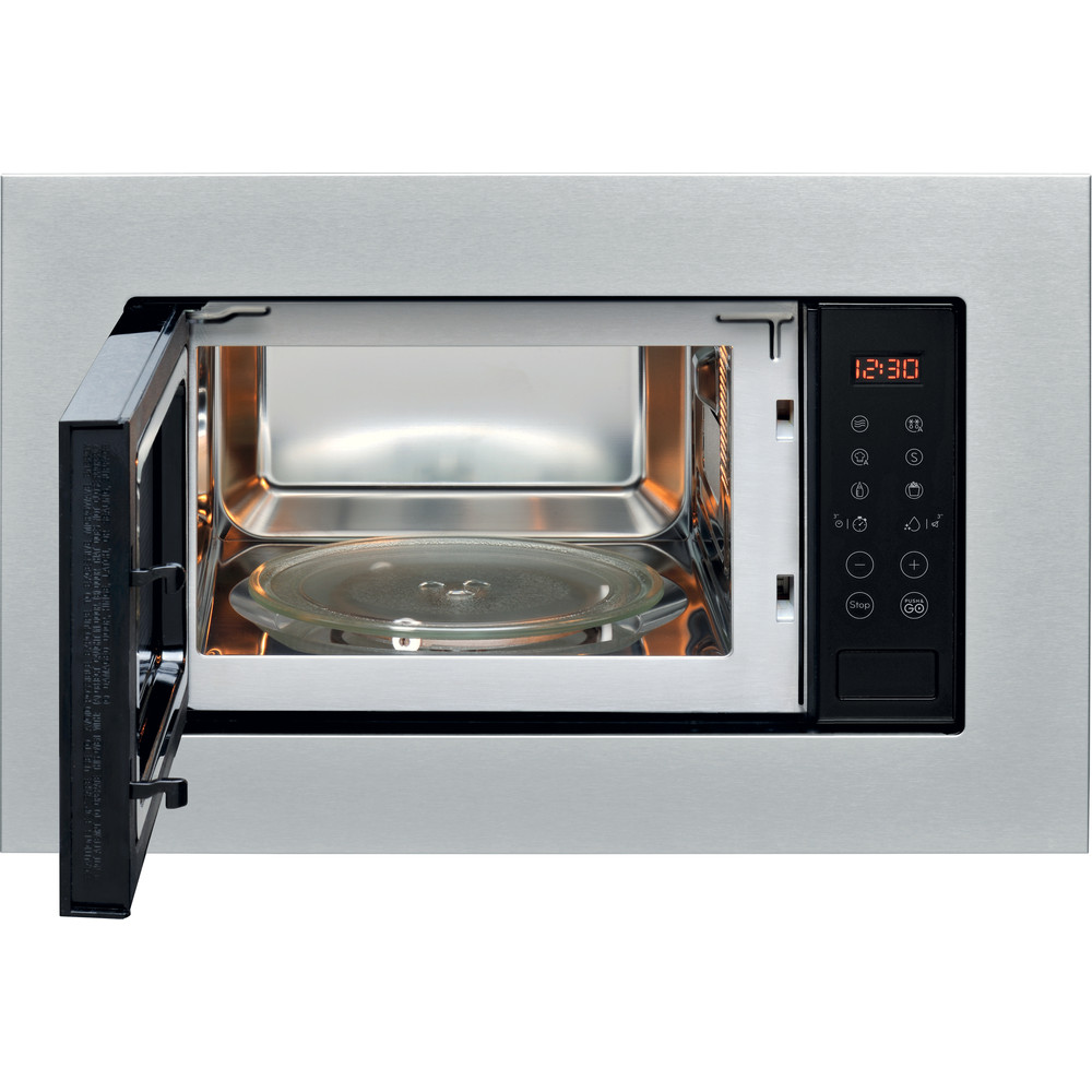 Indesit Microonde Da incasso MWI 120 SX Stainless Steel Elettronico 20 Solo microonde 800 Frontal open