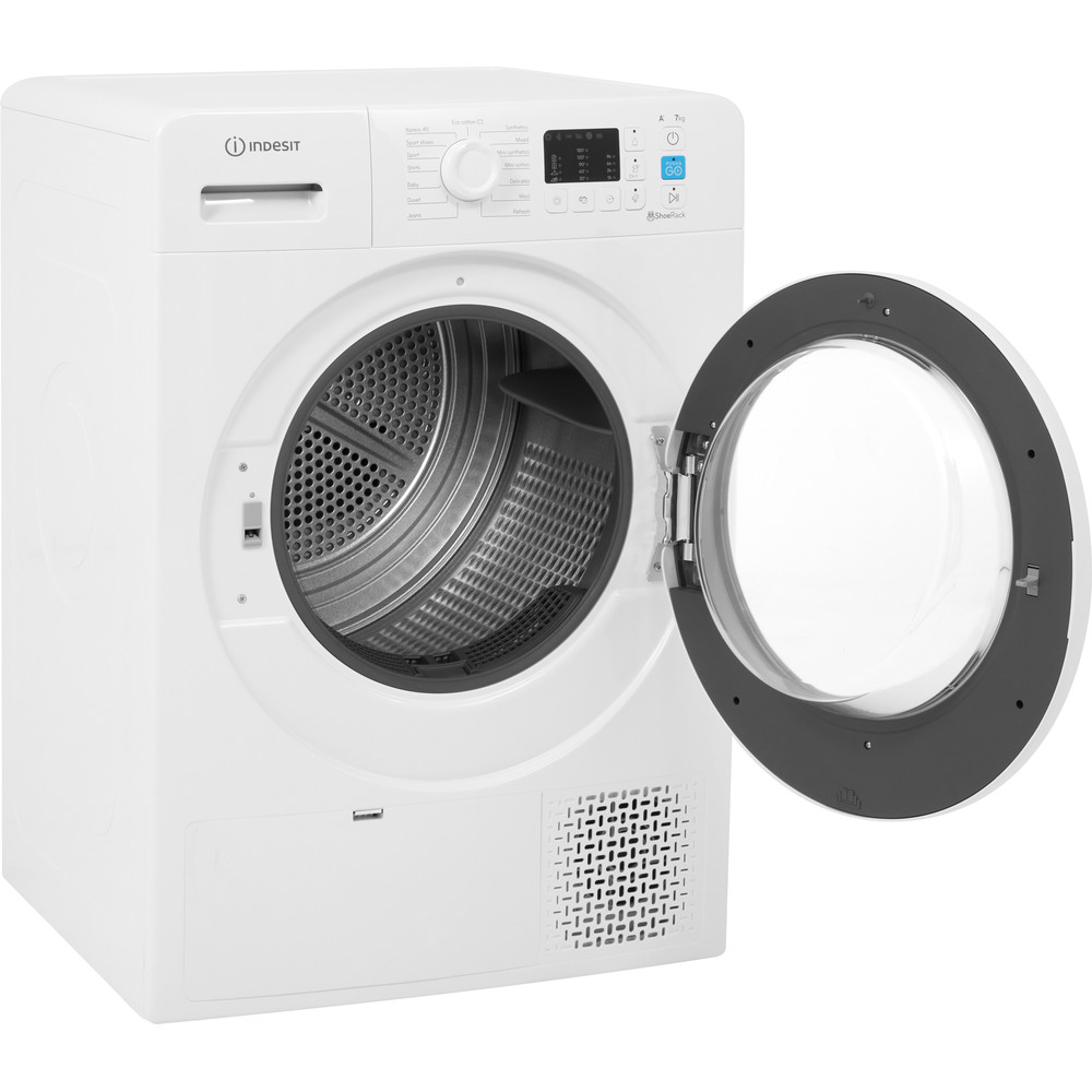 Indesit Dryer YT M10 71 R UK White Perspective open