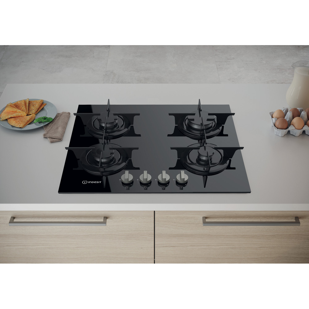 Indesit Table de cuisson PR 642 /I (BK) Noir GAS Lifestyle frontal