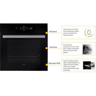 Вбудована електрична духова шафа Whirlpool: чорний колір - AKZ 6230 NB