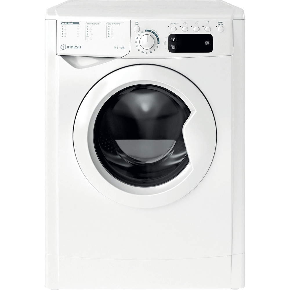 Indesit Mašina za pranje i sušenje veša Samostojeći EWDE 751451 W EU N Bijela Front loader Frontal