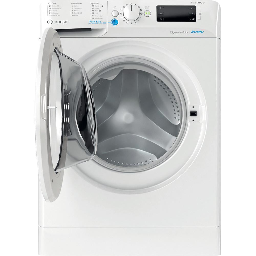 Indesit Washing machine Free-standing BWE 91484X W UK N White Front loader C Frontal open