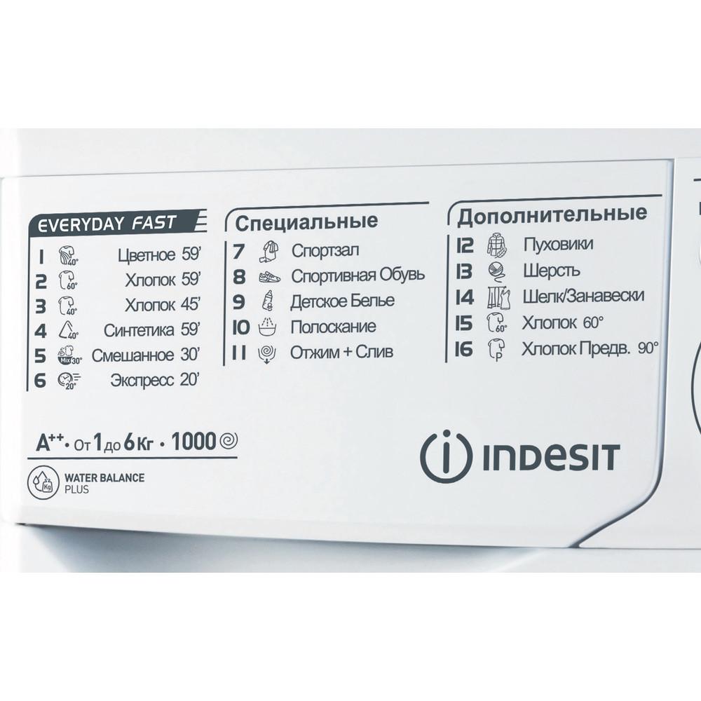 Indesit Стиральная машина Отдельностоящий MSC 615 Белый Фронтальная загрузка A Program