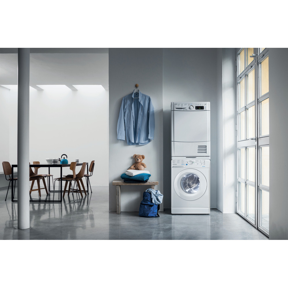 Indesit Washing machine Free-standing BWSC 61251 XW UK N White Front loader A++ Lifestyle frontal