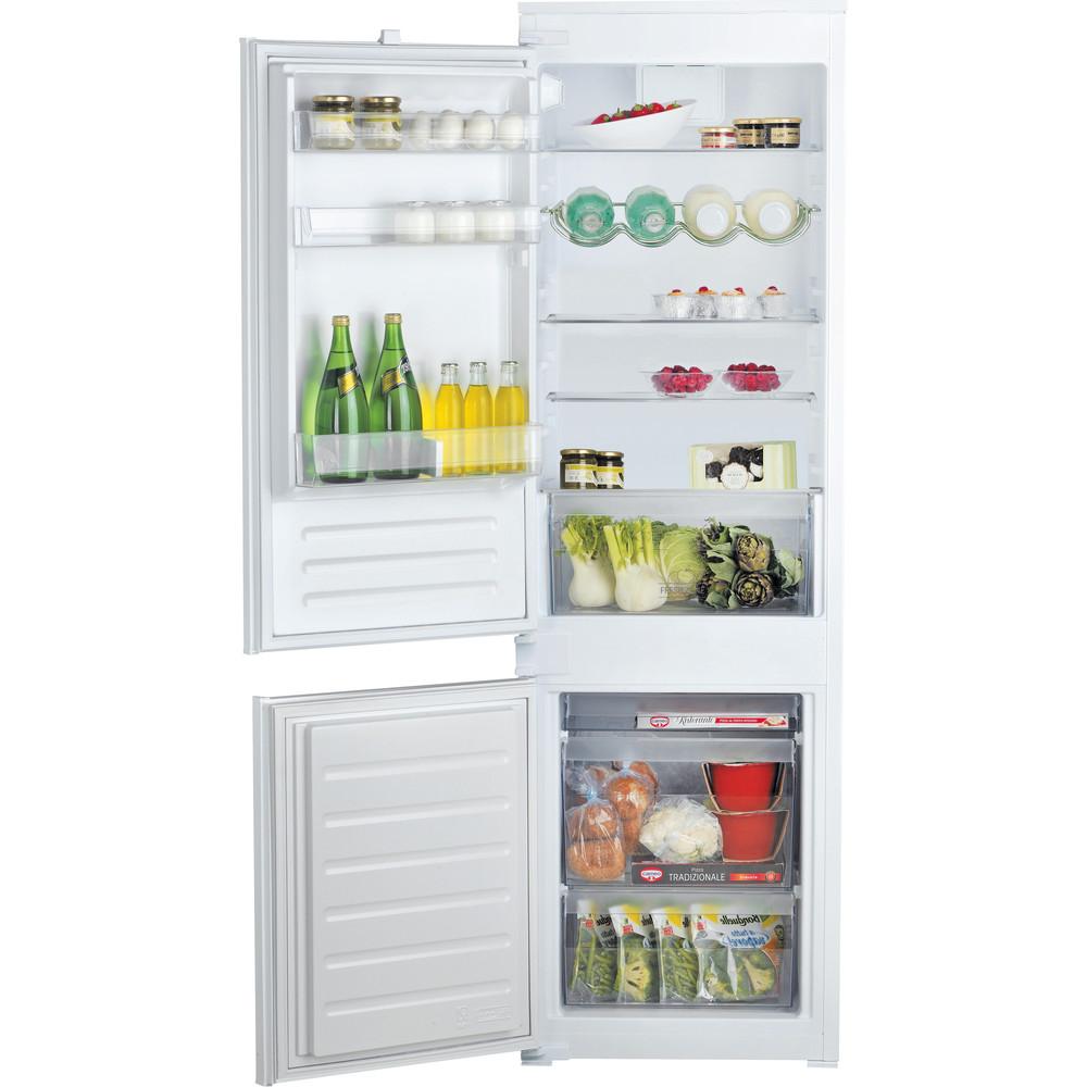 Hotpoint_Ariston Combinazione Frigorifero/Congelatore Da incasso BCB 7030 D S2 Bianco 2 porte Frontal open