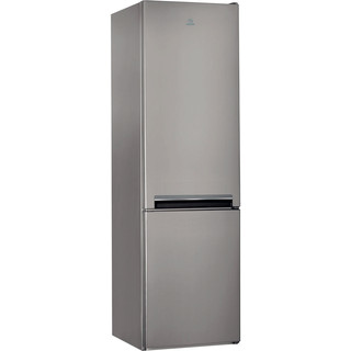 Indesit Fridge Freezer Free-standing LD70 S1 X Optic Inox 2 doors Perspective