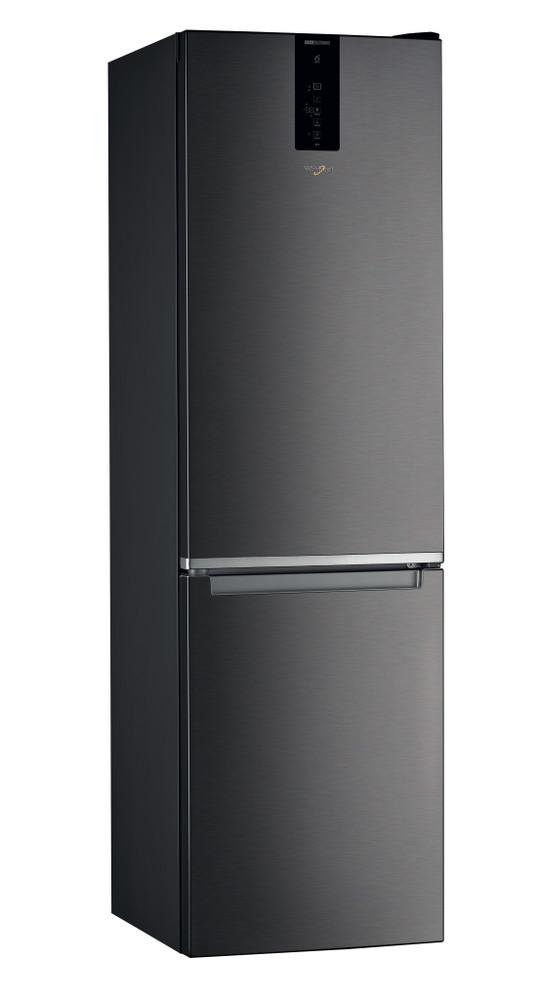 Whirlpool Hűtő/fagyasztó kombináció Szabadonálló W9 931D KS Fekete/Inox 2 doors Perspective