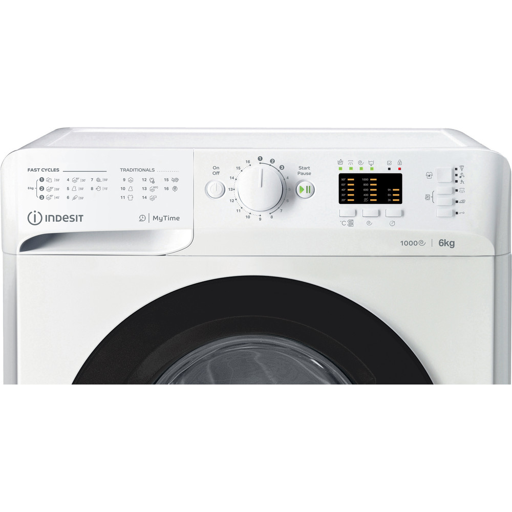 Indesit Пральна машина Соло OMTWSA 61053 WK EU Білий Front loader A+++ Control panel