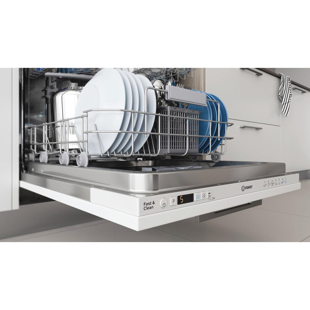 Indesit Vaatwasser Inbouw DIC 3B+19 Volledig geïntegreerd F Rack