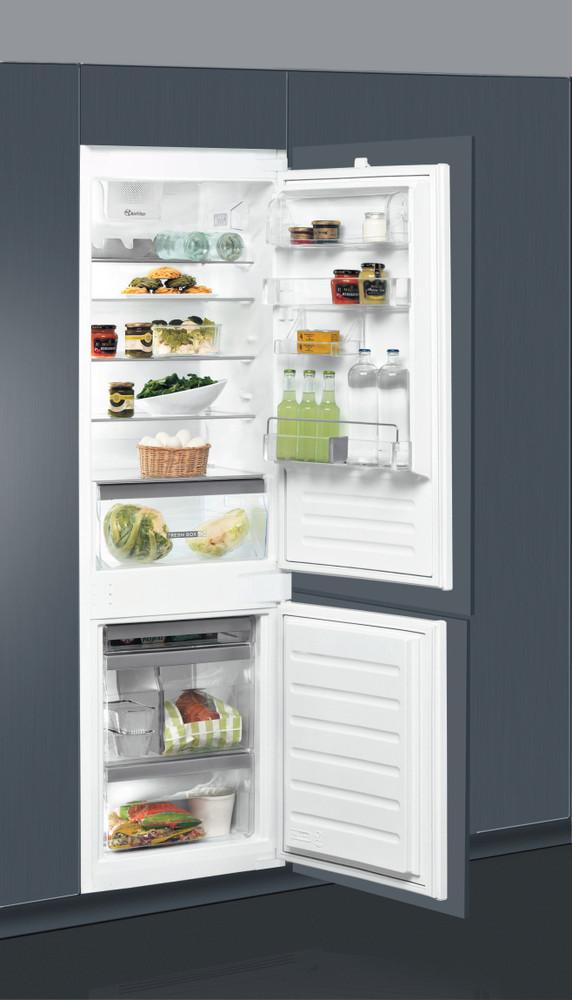 Whirlpool Hűtő/fagyasztó kombináció Beépíthető ART 66112 Fehér 2 doors Lifestyle perspective open