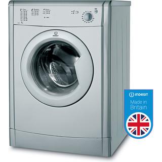 Indesit Dryer IDV 75 S (UK) Silver Perspective