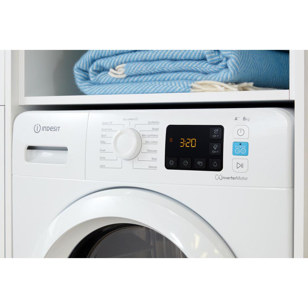 Indesit Dryer YT M11 82 X UK White Lifestyle control panel
