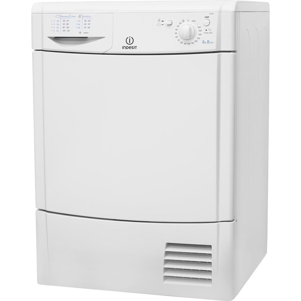 Indesit Dryer IDC 8T3 B (UK) White Perspective