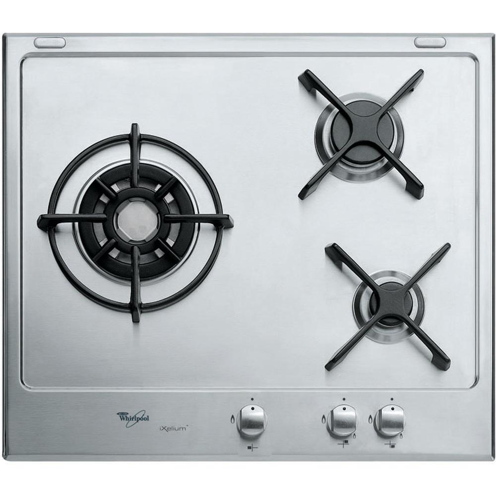 Encimera de gas Whirlpool: 3 quemadores de gas - AKT 615/IXL