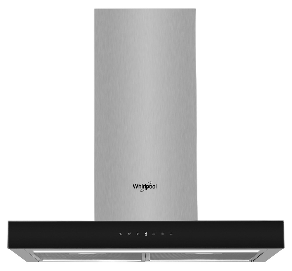 Whirlpool Hotte Encastrable WHBS 62F LT K Noir Mural Electronique Frontal