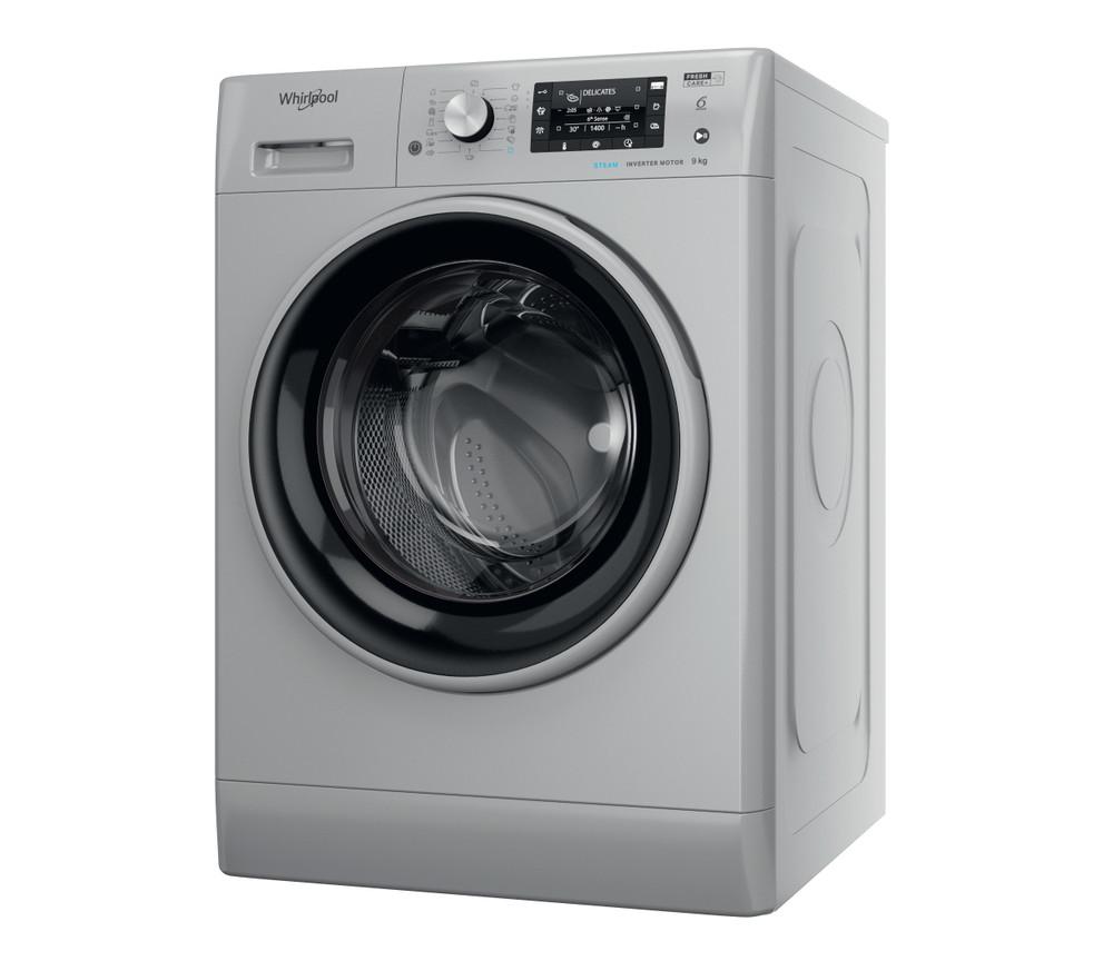 Whirlpool Maşină de spălat rufe De sine statator FFD 9448 SBSV EU Argintiu Încărcare frontală C Perspective