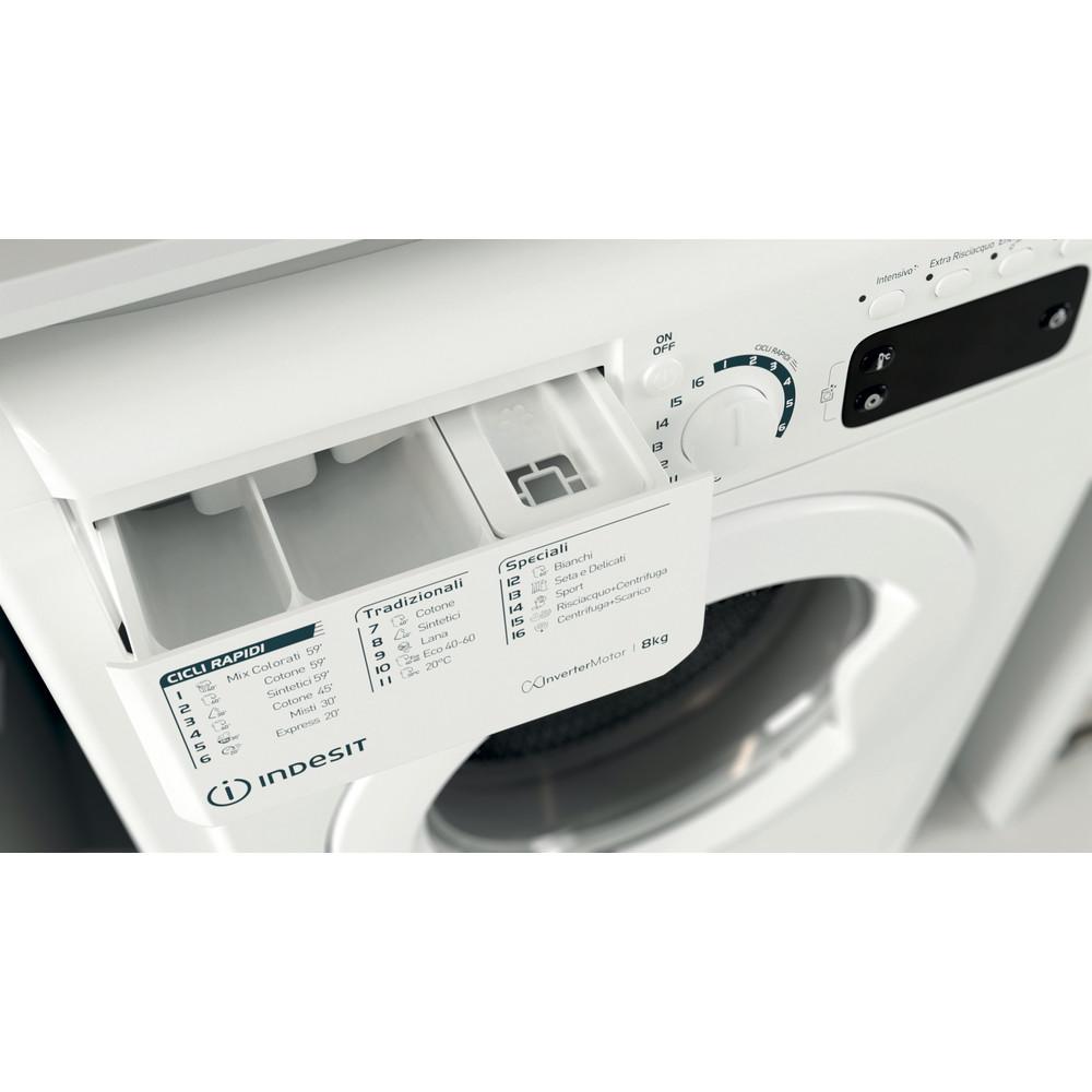 Indesit Lavabiancheria A libera installazione EWE 81283 W IT N Bianco Carica frontale D Drawer