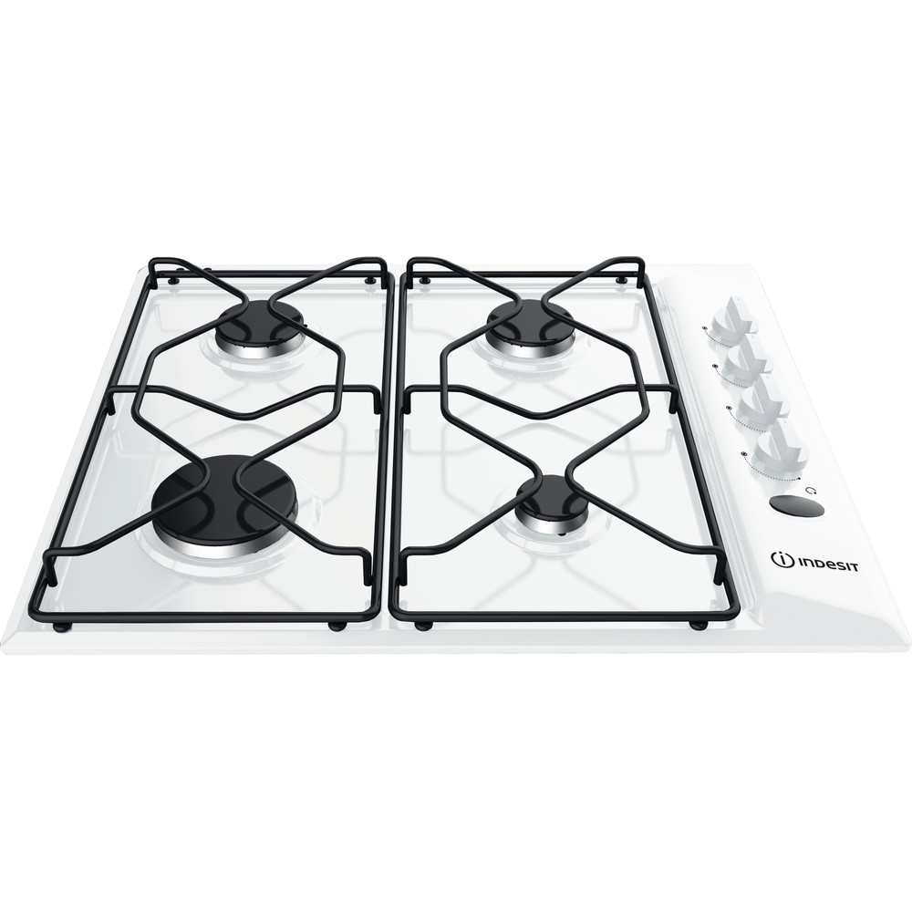 Indesit HOB PAA 642 /I(WH) White GAS Frontal_Top_Down