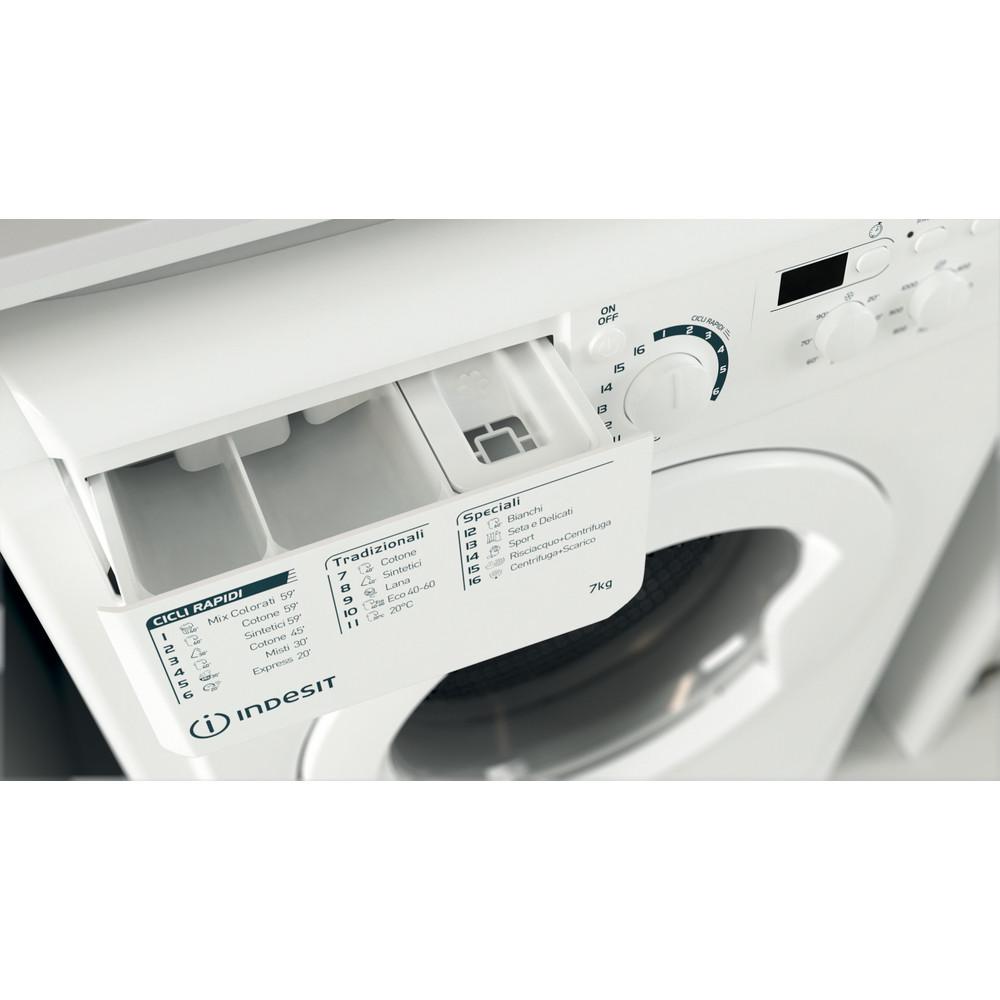 Indesit Lavabiancheria A libera installazione EWD 71052 W IT N Bianco Carica frontale E Drawer