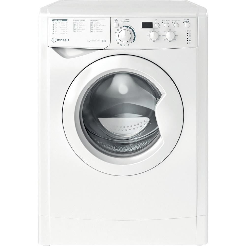 Indesit Washing machine Free-standing EWD 81483 W UK N White Front loader D Frontal