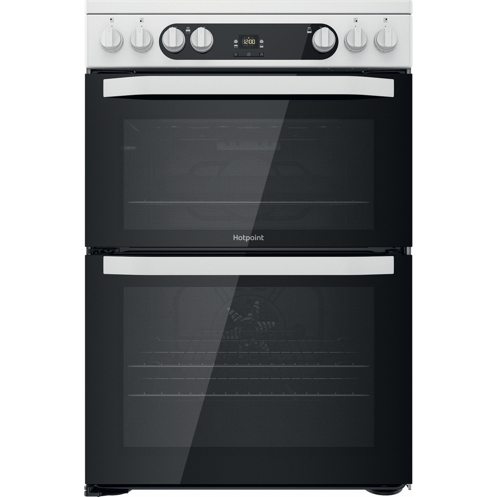 Hotpoint Double Cooker HDM67V9HCW/UK White A Frontal