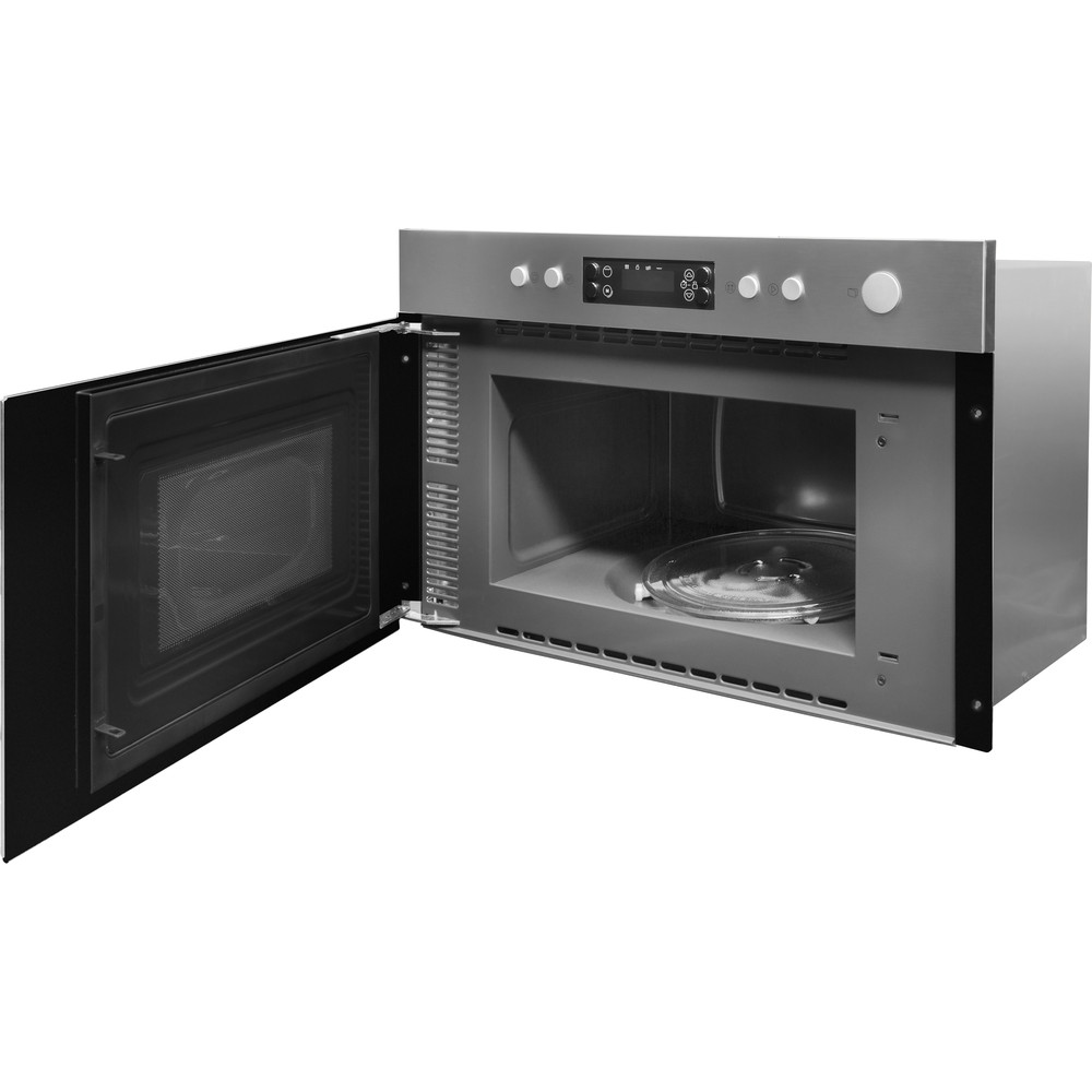 Indesit Microwave Built-in MWI 5213 IX UK Inox Electronic 22 MW+Grill function 750 Perspective open