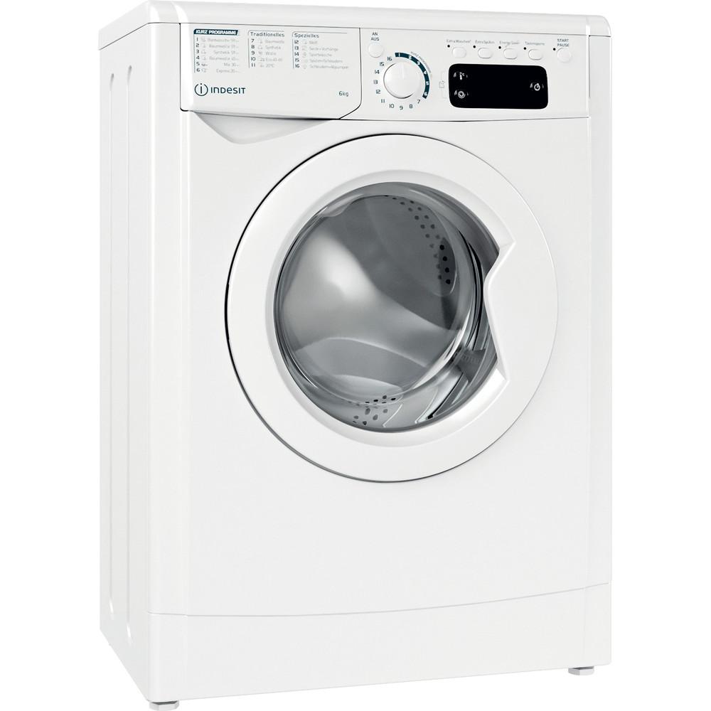 Indesit Waschmaschine Freistehend EWSE 61251 W DE N Weiß Frontlader F Perspective