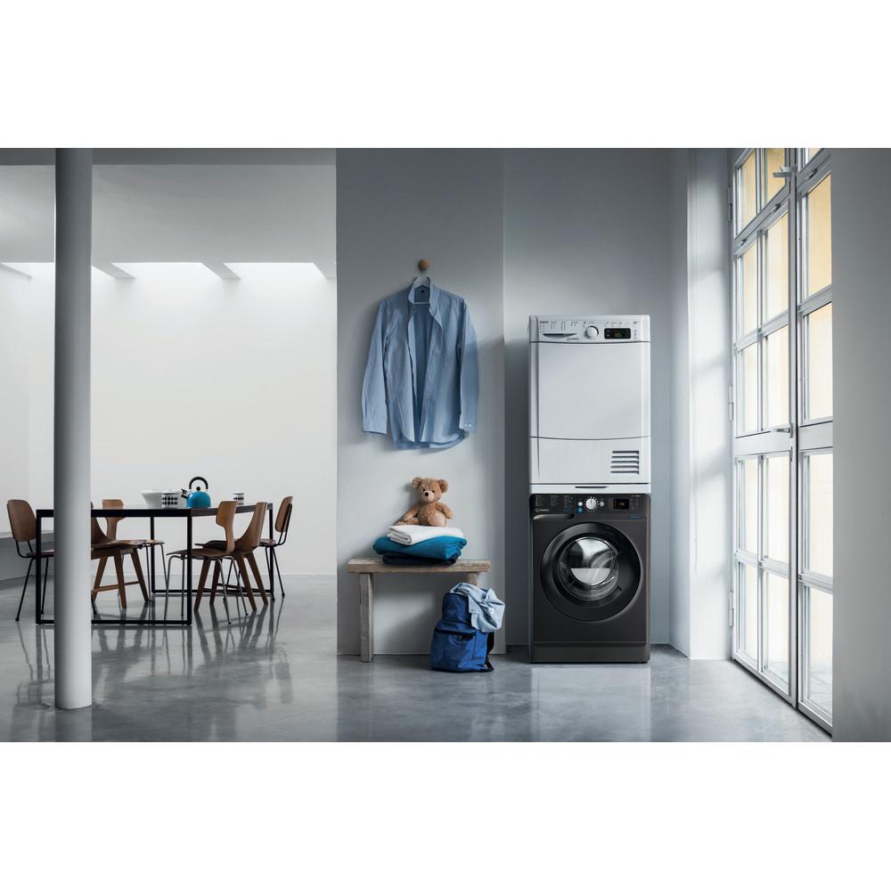 Indesit Washing machine Free-standing BWE 71452 K UK N Black Front loader A+++ Lifestyle frontal