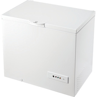 Indesit chest freezer: white color