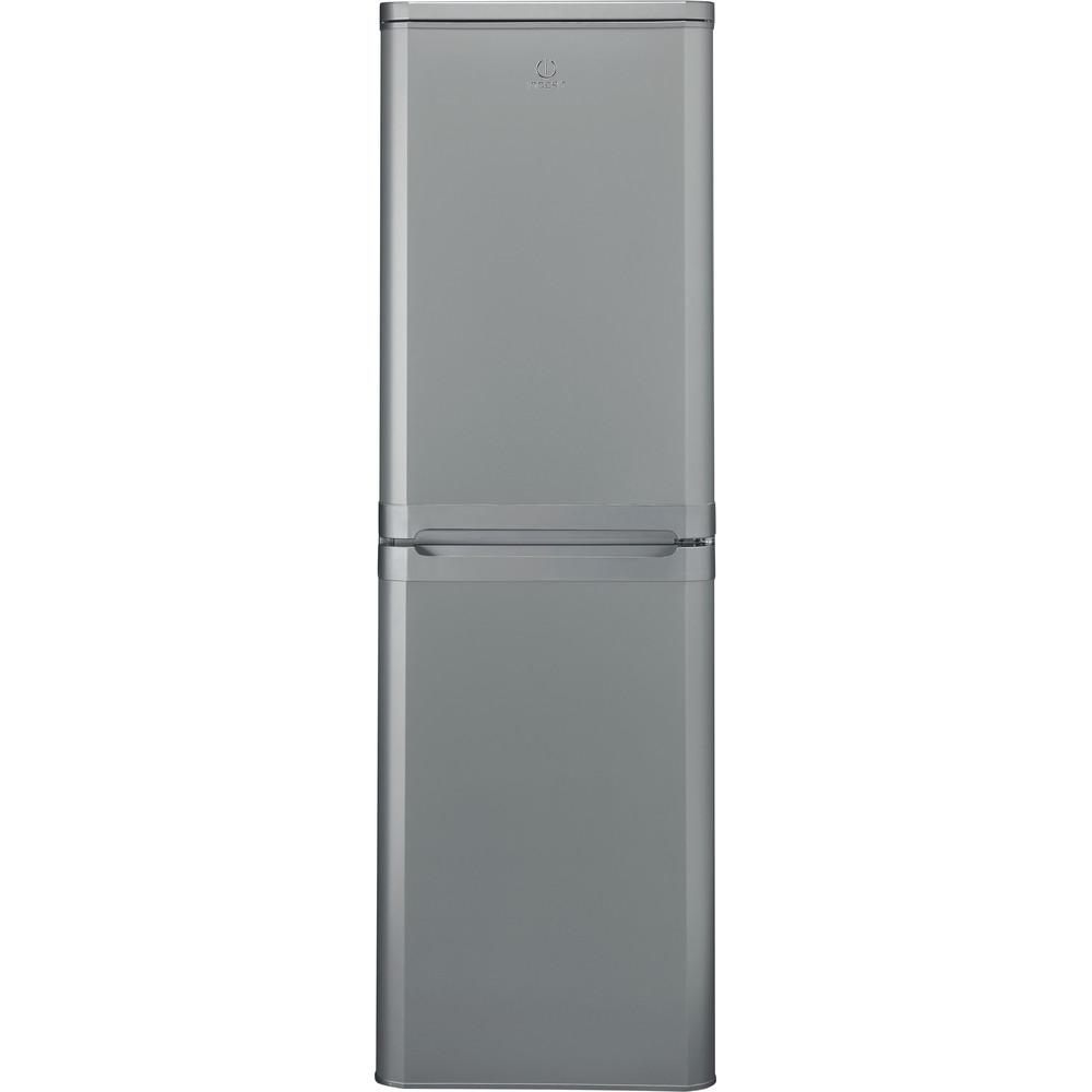 Indesit Fridge Freezer Free-standing IBD 5517 S UK 1 Silver 2 doors Frontal