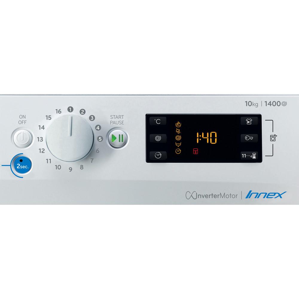 Indesit Lave-linge Pose-libre BWE 101484X WS EU N Blanc Lave-linge frontal C Control panel
