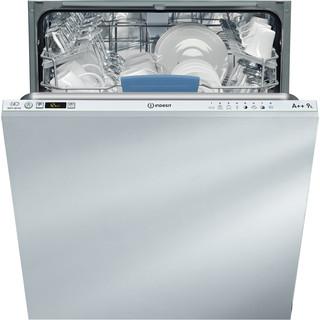 Indesit vestavná myčka nádobí: plná velikost, bílá barva