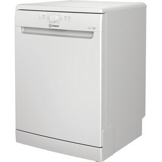 Πλυντήριο πιάτων Indesit: πλήρες μέγεθος, λευκό χρώμα