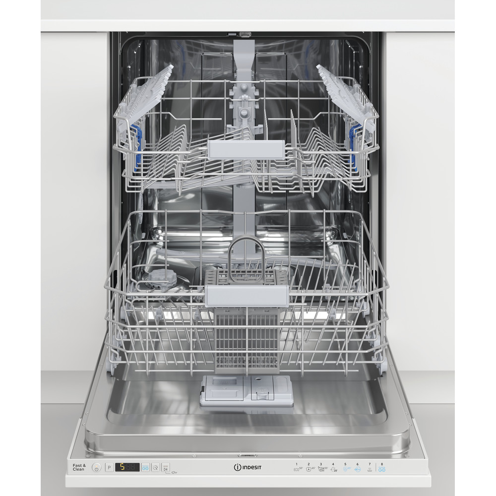 Indesit Lave-vaisselle Encastrable DIC 3C24 A Tout intégrable E Lifestyle frontal open